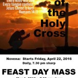 Cross Feast Novena – April 2016