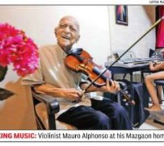 Mumbai takes a bow as Goa-born violinist celebrates 100th birthday